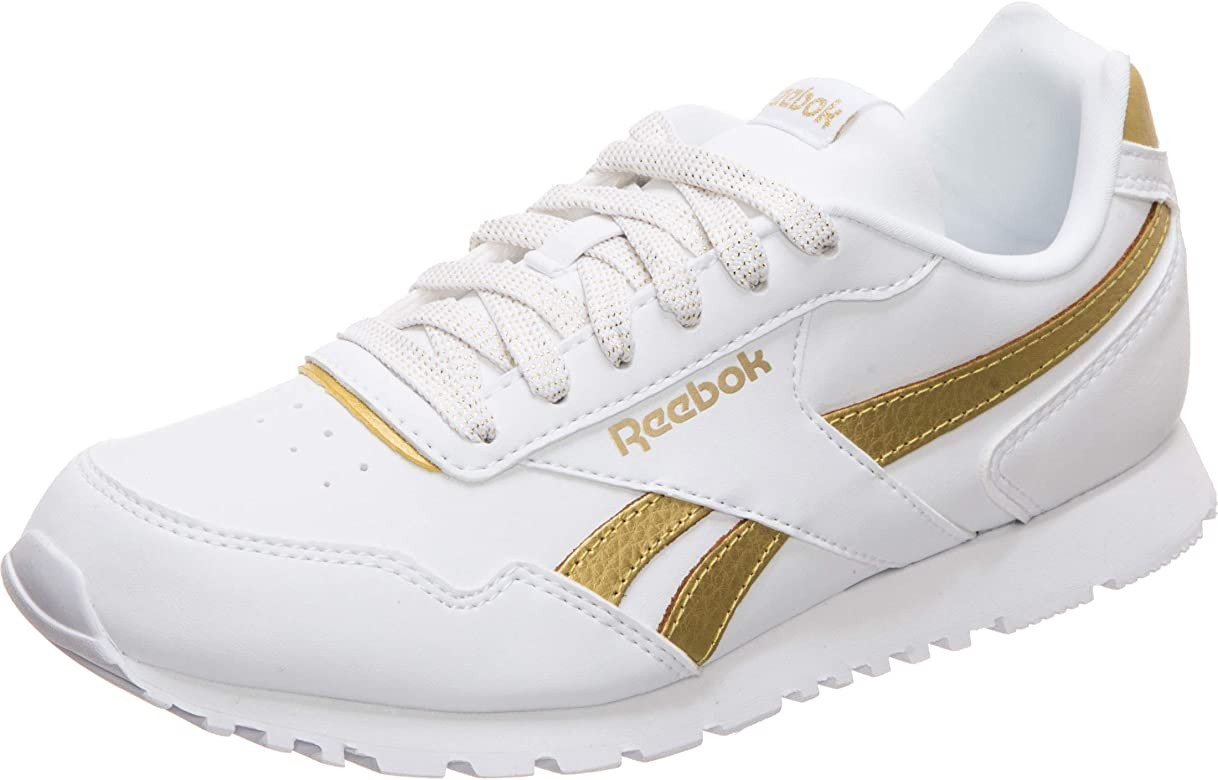 Reebok Royal Glide Syn, Zapatillas de Trail Running para Niñas, White/Gold Met 000, 34 1/3 EU: Amazon.es: Zapatos y complementos