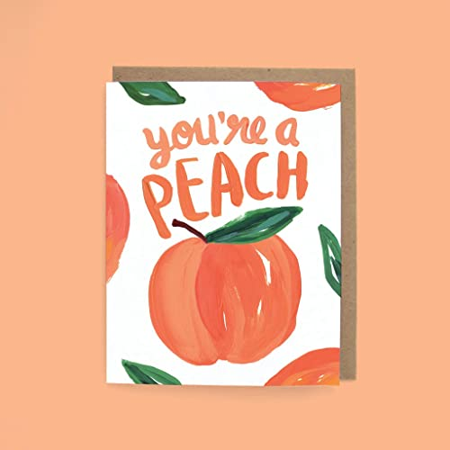 Beautiful Greeting Card Peach Hello