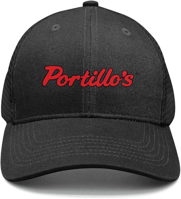 IOUYBTJKO Portillos Logos Snapback Trucker Cap Plain 100/% Cotton Caps Printed Dad Mens Womens Unisex Hat