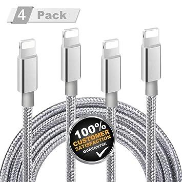 MITE Cable iPhone, 4 Paquetes de 1m+2m*2+3m Cable del Cargador para Iphone [Nylon Trenzado Duradero] con 12 meses de Garantía Certificada para iPhone ...