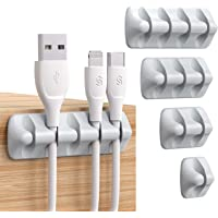 Syncwire kabelklemorganizer [PAK VAN 5] management minikabel nette houders voor netsnoeren, oplaadkabels, muiskabels en…
