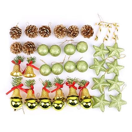 amazon com fairylove 42pcs christmas tree ornaments shatterproof