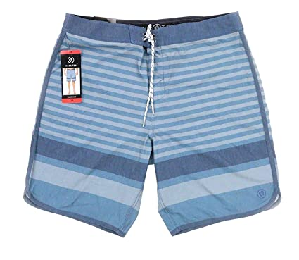 20dd7f9a34 Amazon.com: Hang Ten Stripe Casual Quick Dry Board Shorts (Dusty ...