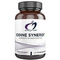 Designs for Health Iodine with Selenium - Iodine Synergy, 10mg Iodine + 40mcg Selenium...