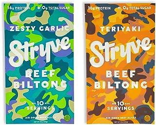 product image for Stryve Beef Biltong Zesty Garlic 10oz and Teriyaki 10oz Bundle