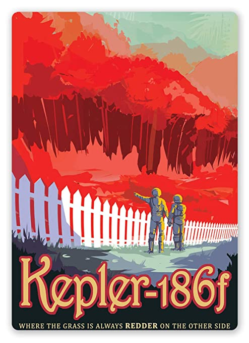 SALWON Visit Kepler 186f -Cartel De Chapa Advertencia Placa ...