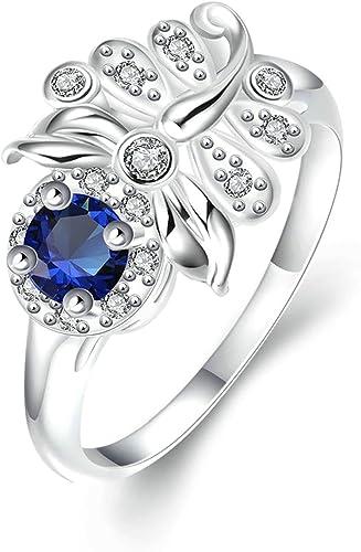 Amazon Com Gnzoe Fashion Jewelry Silver Plated Women Finger Rings