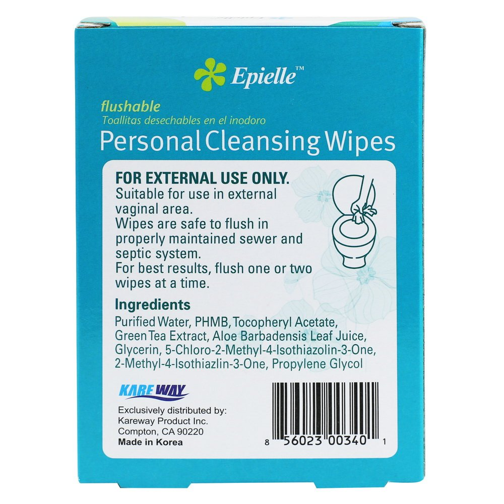 Amazon.com: Epielle Personal Cleansing Wipes, 20 Count (1 Pack): Health & Personal Care