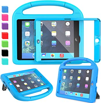 Mini 3 Blue Mini 4 Light Weight Shockproof Handle Friendly Convertible Stand Kids Case with Built-in Kickstand /& Shoulder Strap for iPad Mini Mini 2 LEDNICEKER Kids Case for iPad Mini 1 2 3 4