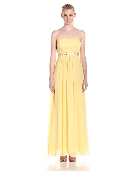 6409c1847f0d Amazon.com  JS Boutique Women s Lace and Chiffon Gown with Beads ...