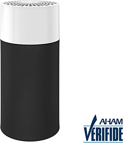 Blueair Blue Pure 411 Air Purifier for home 3 Stage with Two Washable Pre-Filters, Particle, Carbon Filter, Captures Allergens, Odors, Smoke, Mold, Dust, Germs, Pets, Smokers, Small Room