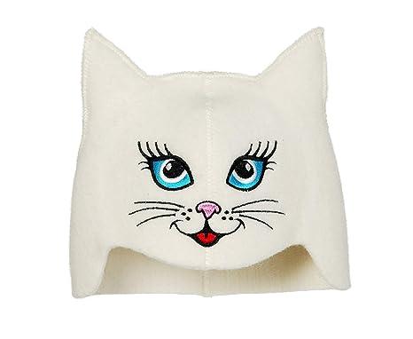 Natural Textile Gorro de Sauna Sauna Kitten Cat Blanc ...