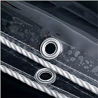 Transparant Zeildoek, PVC 0,5 Mm Waterdicht Afdekzeil, 650 G / ㎡ Doorzichtig Zeildoek, Metalen Oogjes voor Balkon…