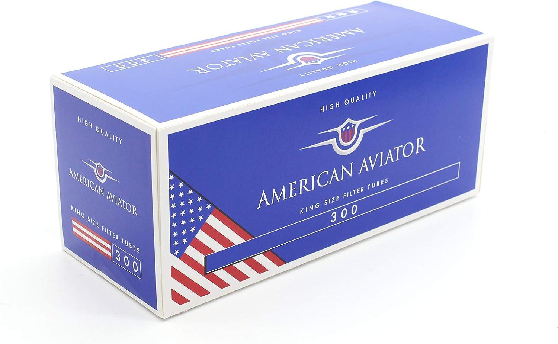 AMERICAN AVIATOR 1500 Tubos Vacíos con Filtro de 8 mm x 15mm para Tabaco de Liar (5 cajas de 300), fabricado en EU: Amazon.es: Salud y cuidado personal