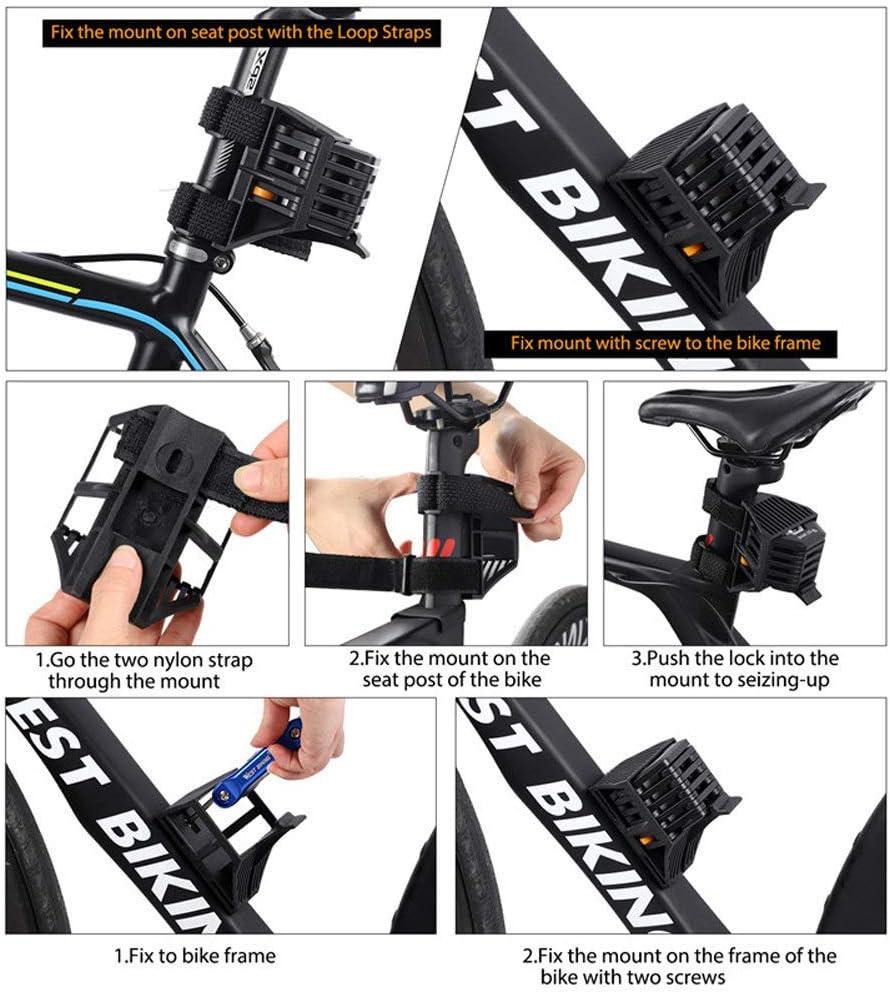 QTER Folding Bike Lock Multi-function Alloy Hamburger Lock with Mounting Bracket Anti-Theft Bicycle Chain Lock with 3 Keys