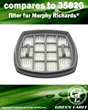 Filter for Morphy Richards Supervac Handheld Vacuum Cleaners. Genuine Green Label Product