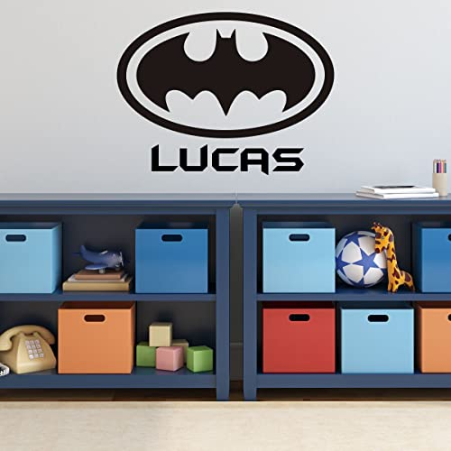 Batman Wall Decal   Personalized Superhero Logo Symbol, DC Comics Vinyl  Home Decor