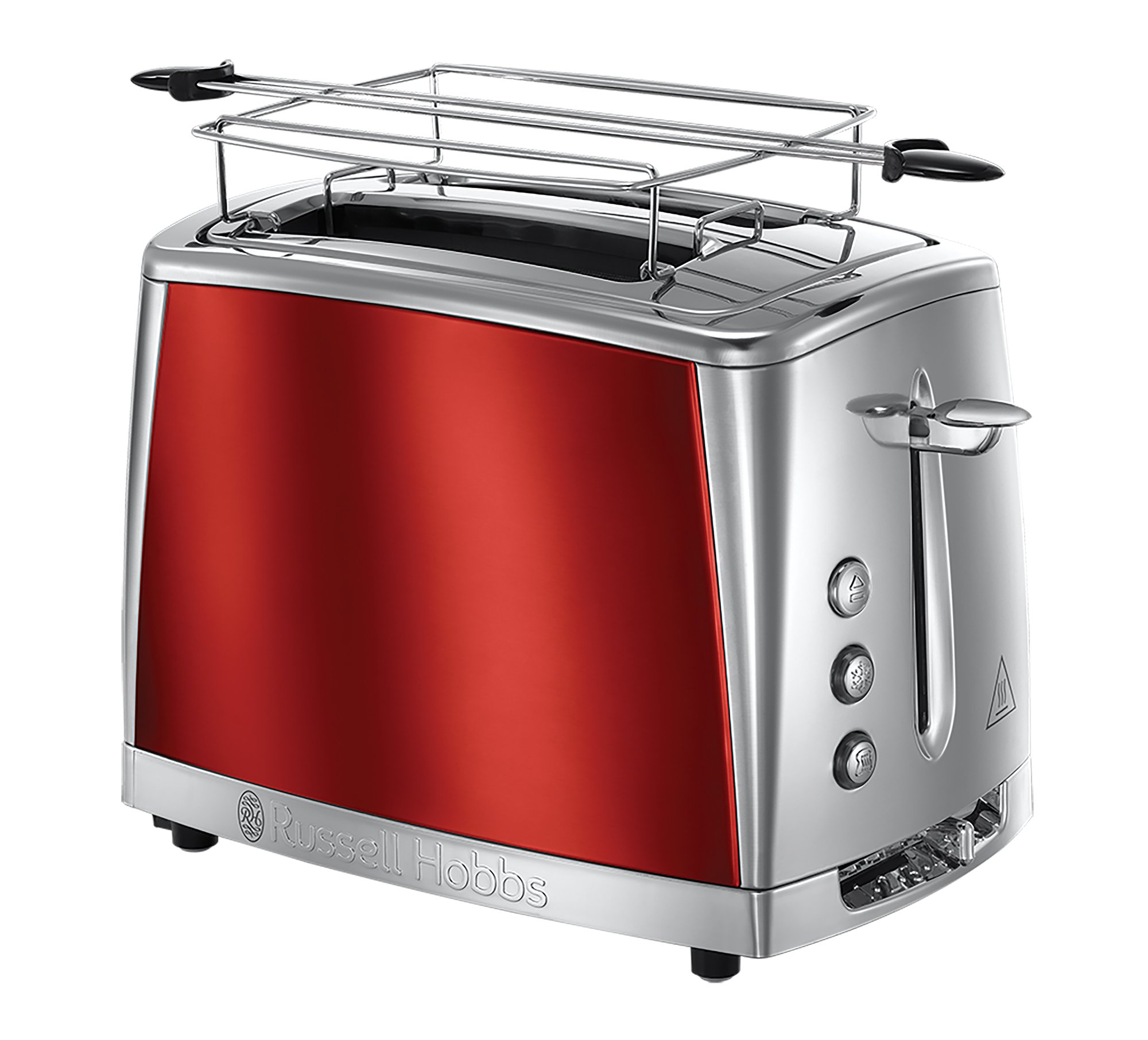 Russell Hobbs Grille-Pain, Toaster Luna, Technologie Cuisson Rapide, Contrôle Brunissage, Chauffe Viennoiserie Inclus - Rouge 23220-56 product image