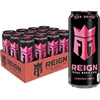 Reign Total Body Fuel, Carnival Candy, Fitness & Performance Drink, 16 Fl Oz (1 Pack, 12 Count)