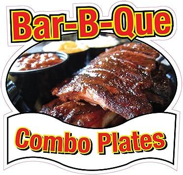 Bbq Ribs Concession Restaurant Food Truck Die-Cut Vinyl Sticker