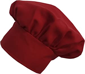 Adjustable Red Twill Chef's Hat