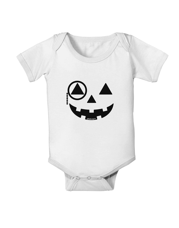 TooLoud Monocle Jack-o-Lantern B-W Baby Romper Bodysuit