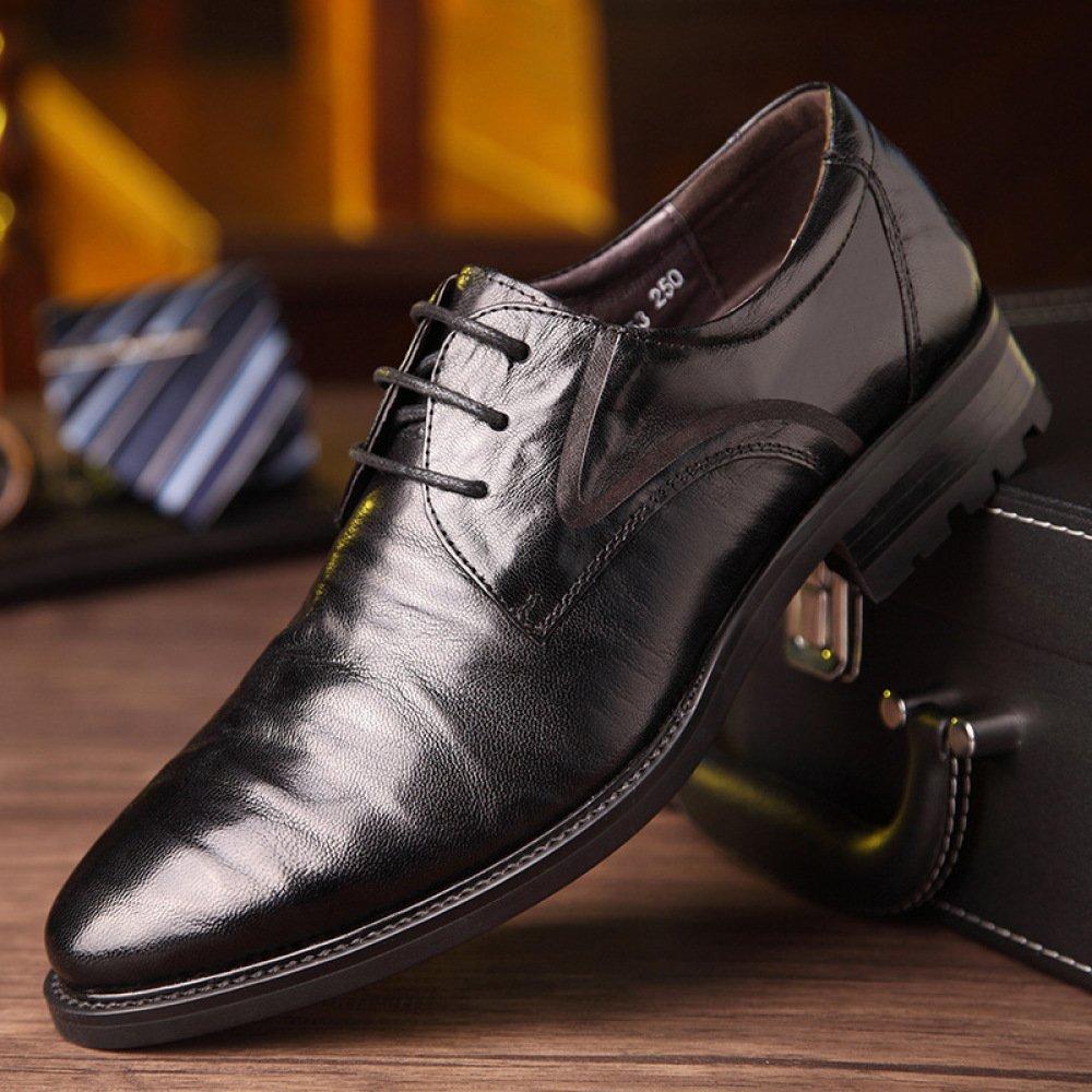 Business Herren Hochzeit Leder Kleid Schuhe Breathable Hochzeit Herren Schuhe Mode Lässig Lace-up schwarz 9043be
