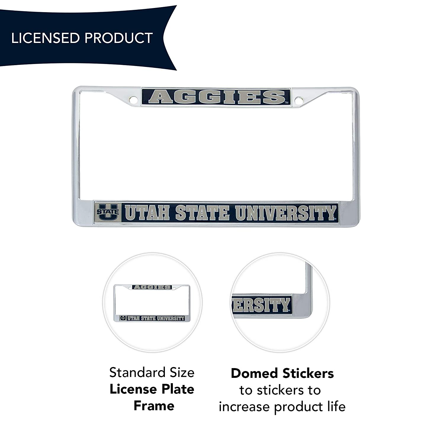 Desert Cactus Utah State University Aggies Metal License Plate Frame for Front Back of Car Officially Licensed Mascot