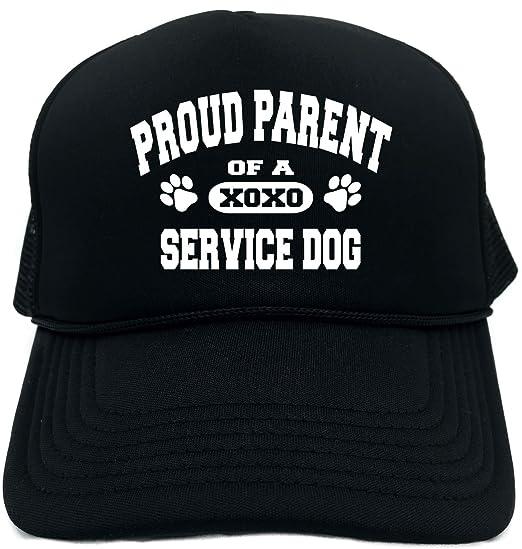 744528d310a3bf Amazon.com  Funny Trucker Hat (Proud Parent of a Service Dog) Unisex ...