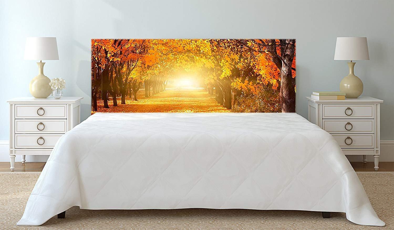 Einfache Platzierung Verschiedene Ma/ße 100x60cm Natur Multicolor Elegantes Design Urbes Raumdekoration Kopfteil Bett PVC Herbst Landschaft Sonnenuntergang Landschaftsmotive