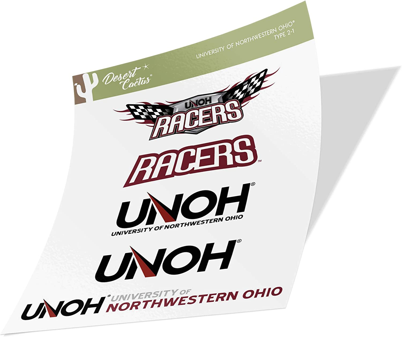 University of Northwestern Ohio Racers NCAA Sticker Vinyl Decal Laptop Water Bottle Car Scrapbook (Type 2 Sheet)