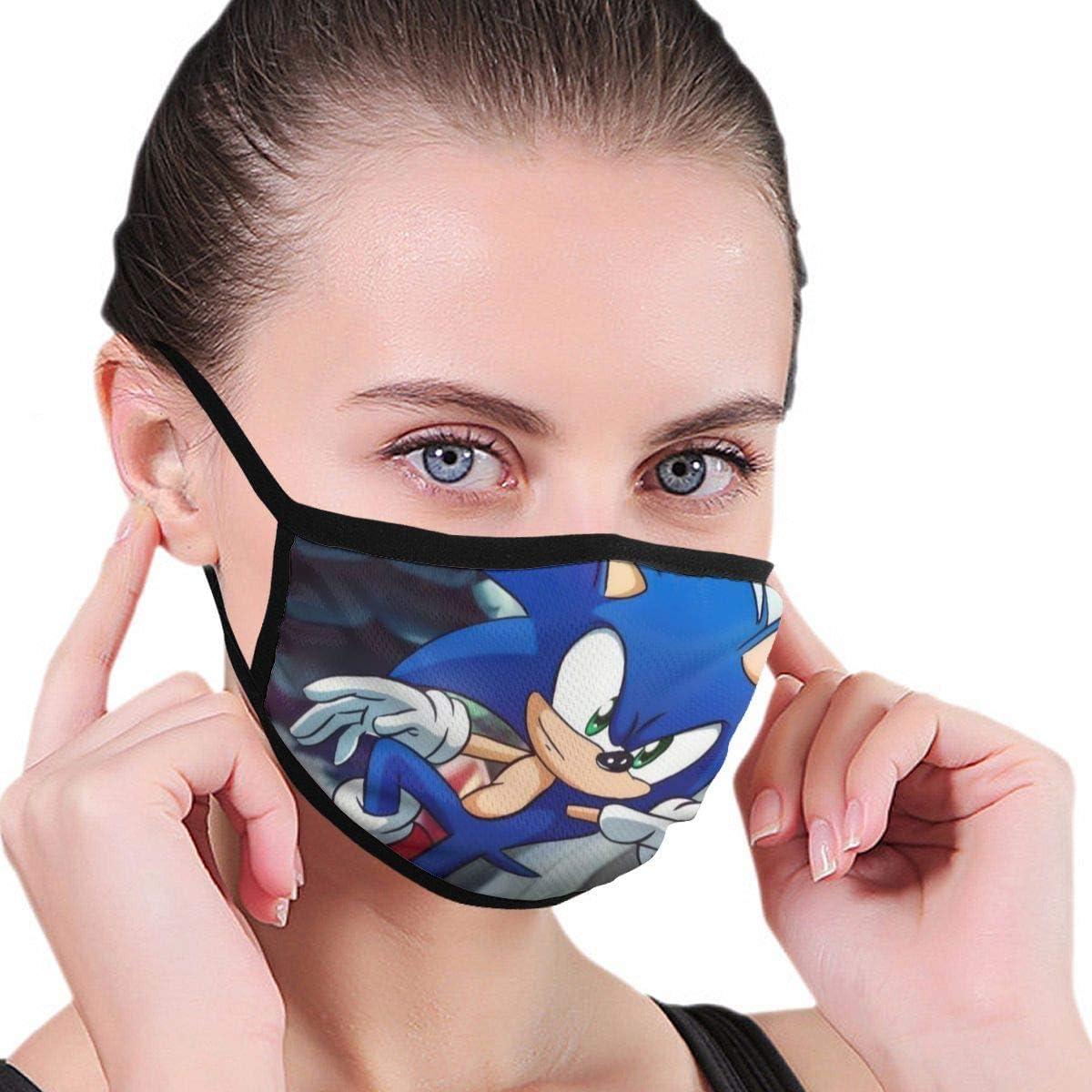 Sonic Super Smash Bros Fan Art mit Elasti Half Face Mundmaske Gesichtsmasken und Nasenabdeckung