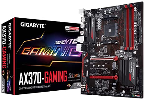 GIGABYTE GA-AX370-Gaming (AMD Ryzen AM4/ X370/ SMART FAN 5/ HDMI/ M 2/  2xUSB 3 1 Gen 2 Type-A/ ATX/ DDR4 Motherboard)