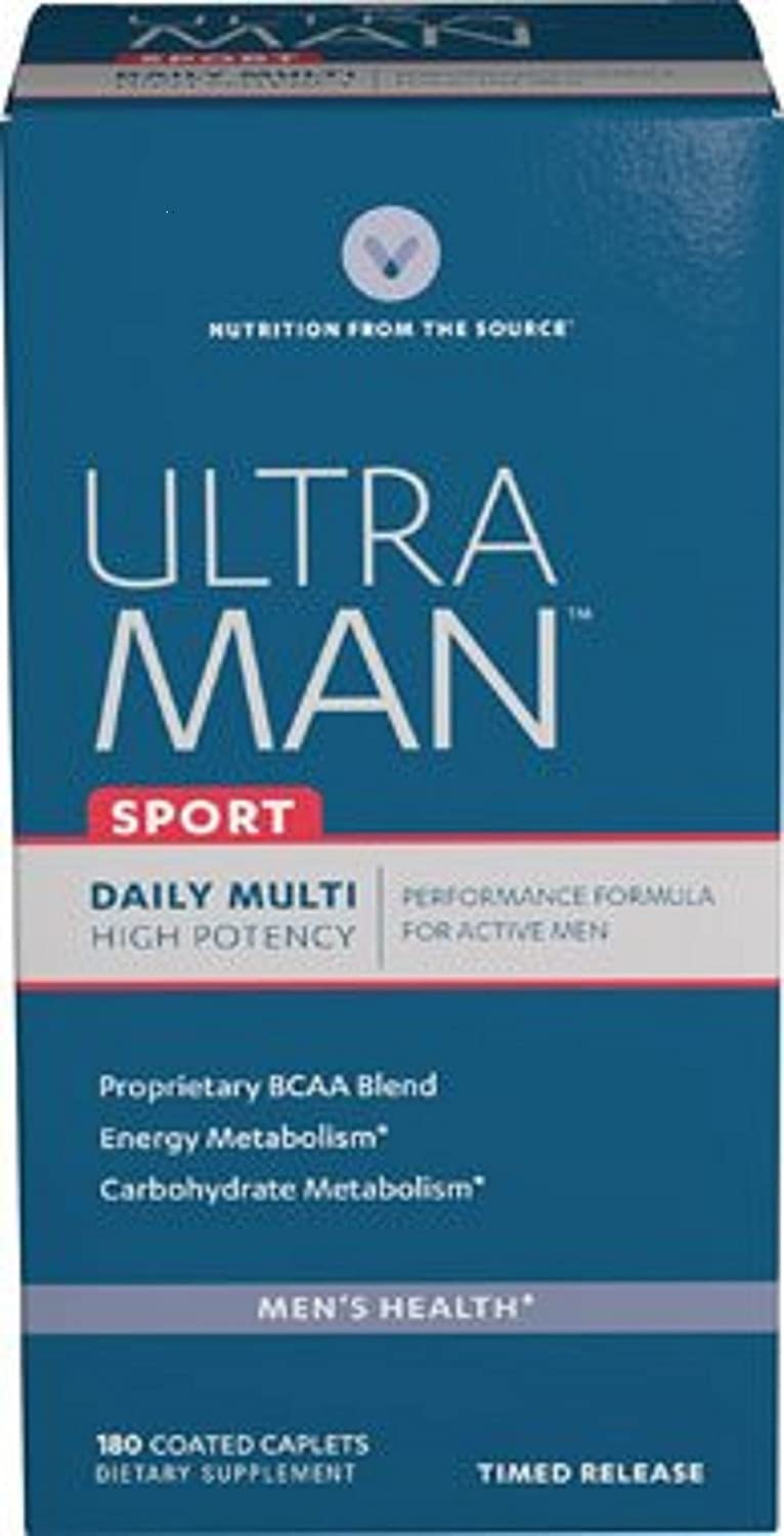 Vitamin World Ultra Man Sport Daily Multi Vitamin, 180 Caplets