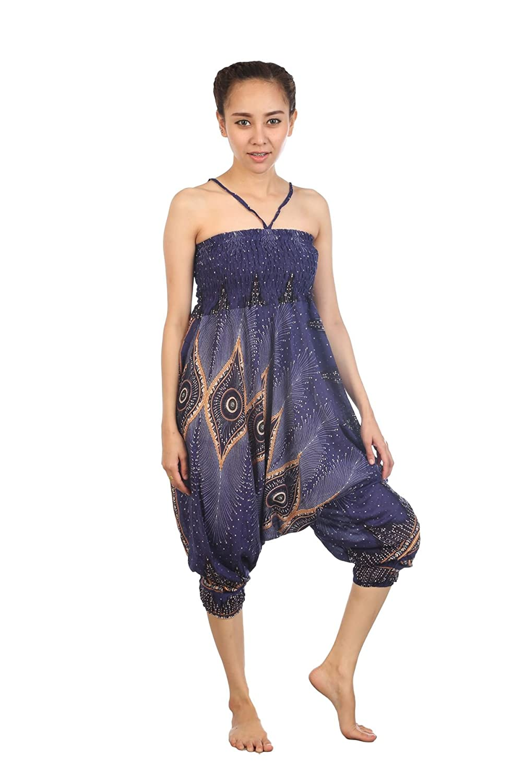 Lofbaz Mujeres Harem Hippy Pantaloni de la Pantalones hippietilo Bohemio Chic