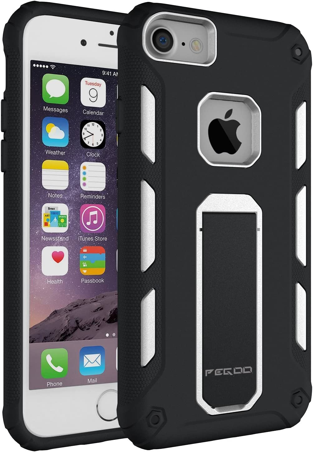 iPhone 7 Case, [iPhone 7 iPhone 6 iPhone 6s universal shell] Impact Resistant Heavy Duty ShockProof Rugged Impact Armor Hybrid Kickstand Protective Cover Case for Apple iPhone 7 / 6 / 6s (4.7) (White)