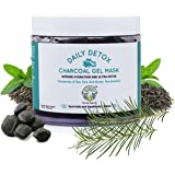 Greenberry Organics Daily Detox Charcoal Gel Face Mask With Tea Tree & Green Tea - 100 Gms