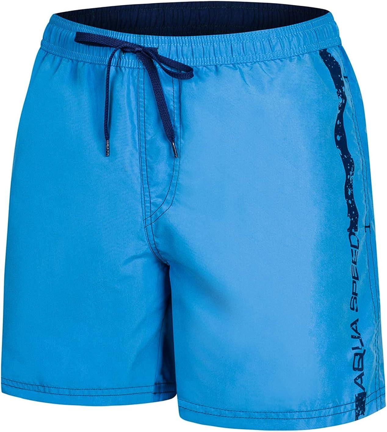 Aqua Speed 5908217667007 Ace Swim - Bañador para Hombre, Talla S, Color Azul Claro y Azul Marino