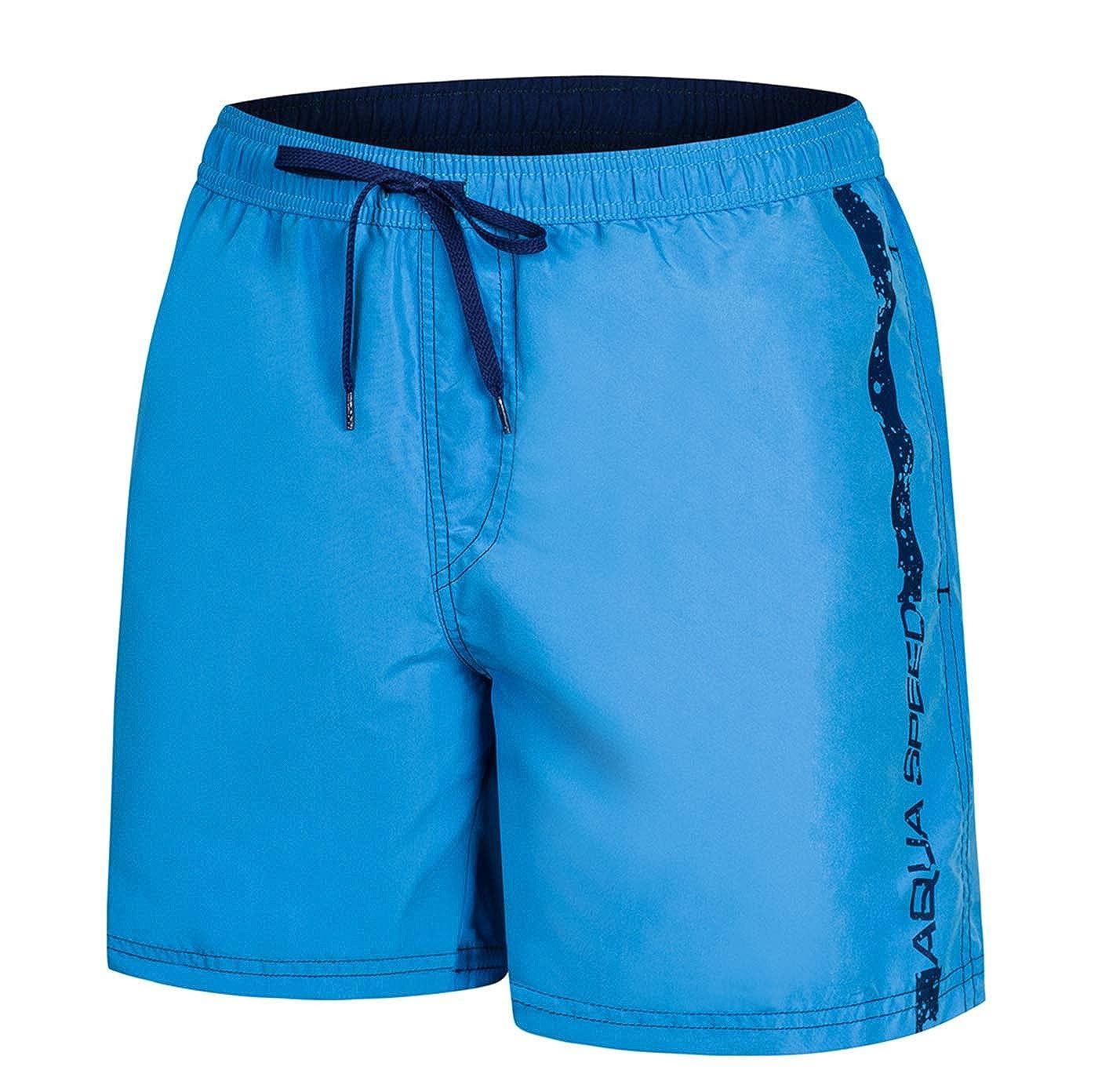 Aqua Speed 5908217667045 Ace Swim - Pantalones Cortos para Hombre, Talla XXL, Color Azul Claro y Azul Marino