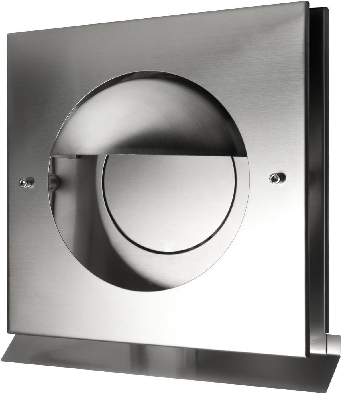 Paneir Kappa DN - Rejilla de ventilación (acero inoxidable, con válvula antirretorno, 125 mm): Amazon.es: Bricolaje y herramientas