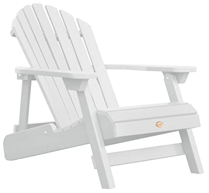 Highwood Hamilton Folding And Reclining Adirondack Chair, Adult Size, White