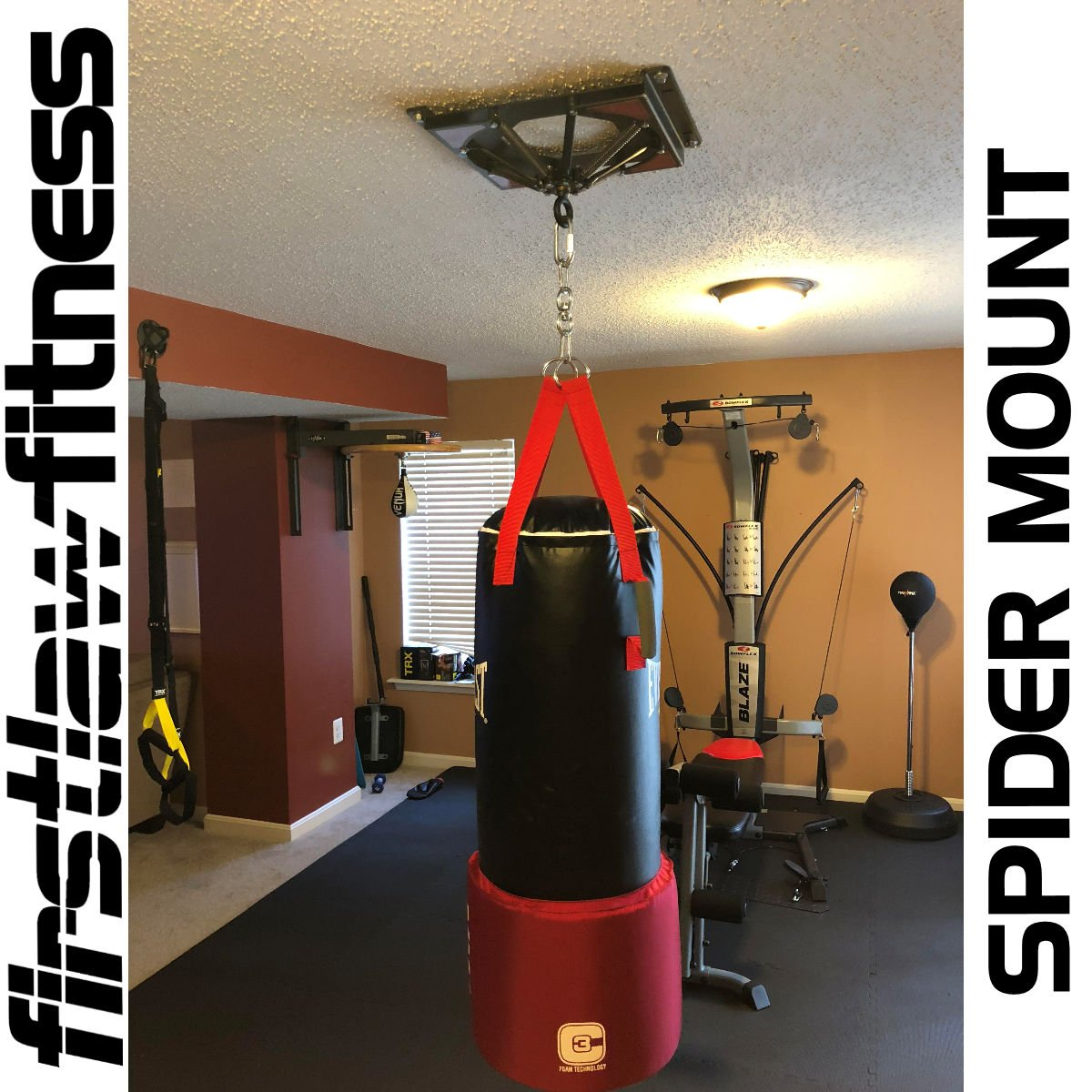 Amazon.com : Firstlaw Fitness Spider Mount 140 - Heavy Punching Bag ...