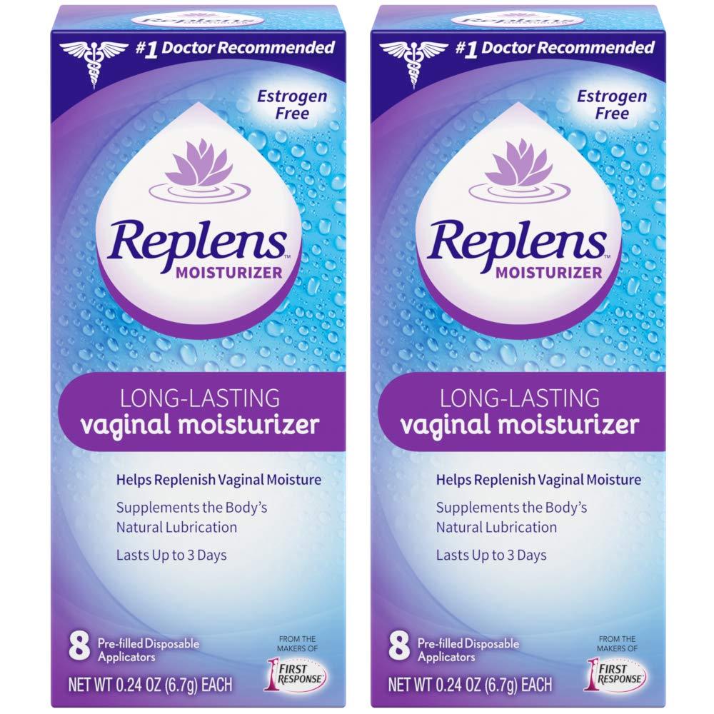 Restores vaginal moisture - Replens Long-lasting Vaginal Moisturizer, 8 Pre-filled Applicators (Pack of 2)