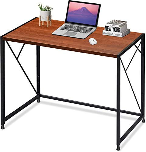 MTY GB01-VC Computer Folding Office Writing Desk Super High Bearing Capacity Large Workspace No-Assembly Sturdy Steel Construction 39″ Review