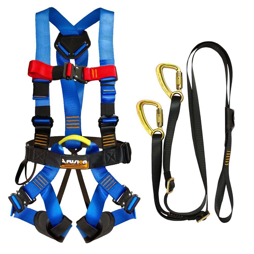 Fusion Climb Pro Backyard Zip Line Kit Harness Lanyard Bundle FK-A-HL-04