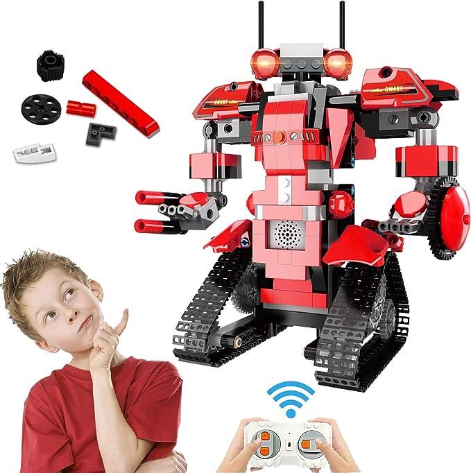 Bloques de Construcción RC Robot, Control Remoto STEM Robot Toy Kit de Robótica de Educativo DIY Robots Electrónicos Inteligentes RC Recargables Regalo Significativo para Niños Niñas (392 Piezas): Amazon.es: Juguetes y
