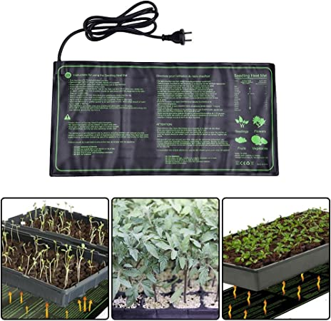 Seedling Heat Mat,18W Waterproof Plant Warm Mat Hydroponic Heating Pad for Indoor Seedling and Germination,10 x 20.75 Inch