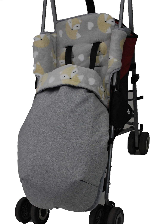 Haim Baby Chanceli/ères pour Maclaren et Gemelar imperm/éabilis/é en coton et polaire Beige