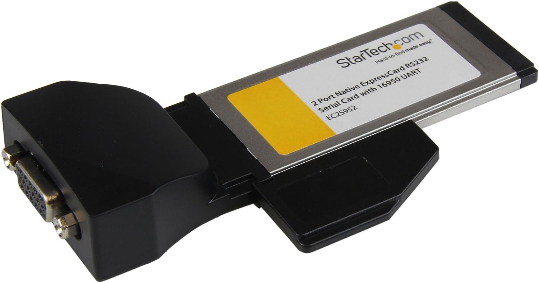STARTECH.COM 2Port ExpressCard RS232 Adapter Card
