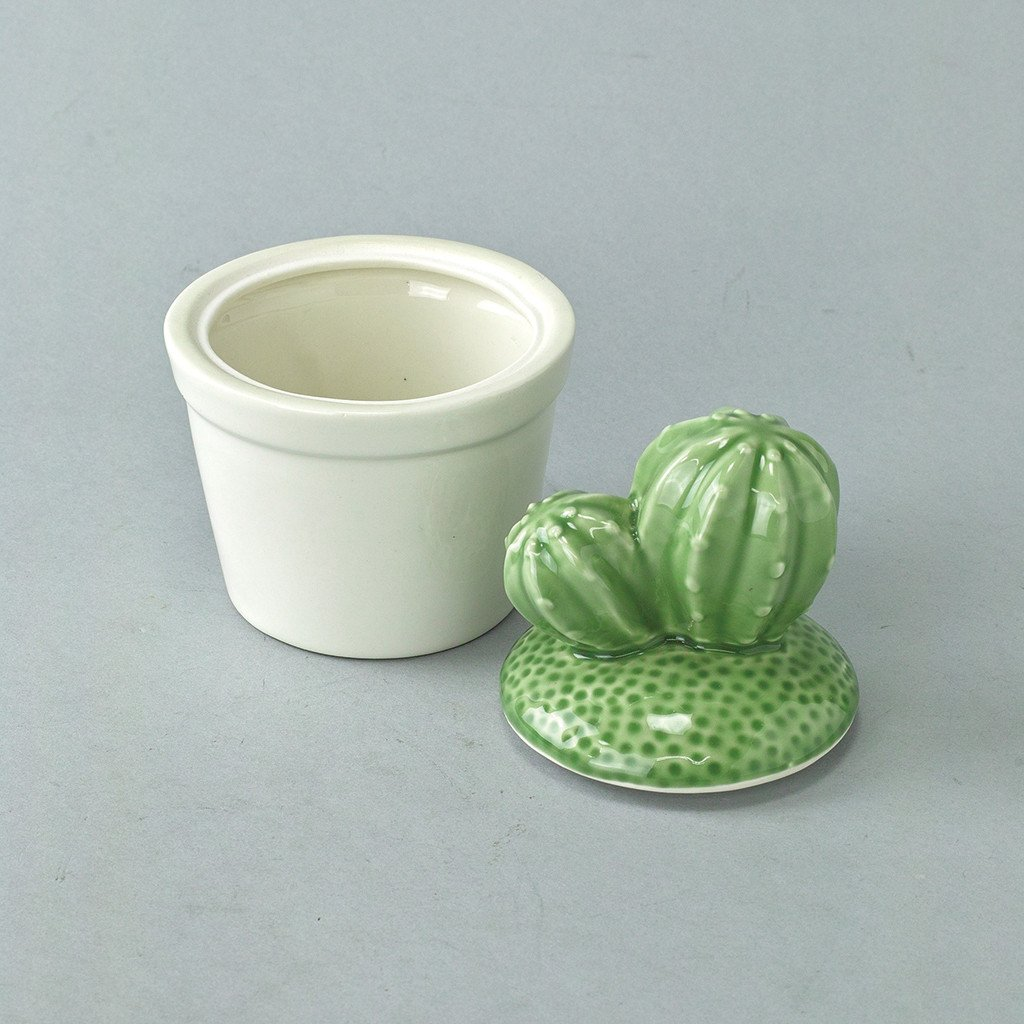 Porcelain Dinnerware Set Time Concept Tropical Desert Cactus Small Plate